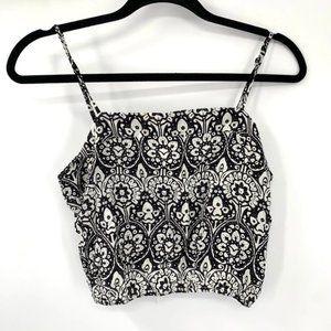 MILLAU LF Crop Top Black White Patterned Boho S
